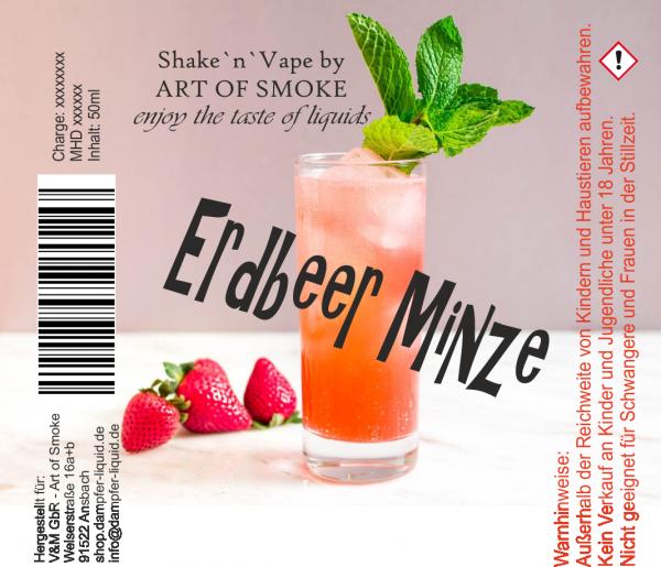 Erdbeer Minze - Shake´n`vape 90ml