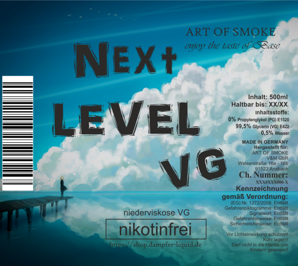 Next Level VG - Niederviskose Full VG Base 500ml