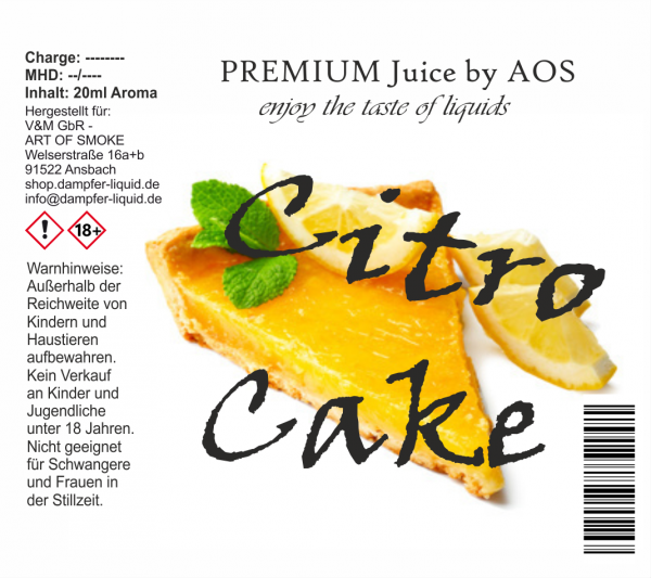 Citro Cake - Premium Juice 60ml Set