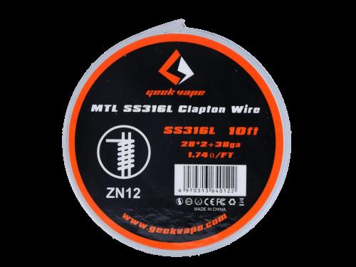 Wickeldraht MTL Clapton SS316L - Geekvape