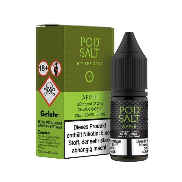 Apple 10ml 20mg/ml Nikotinsalz Liquid - POD Salt