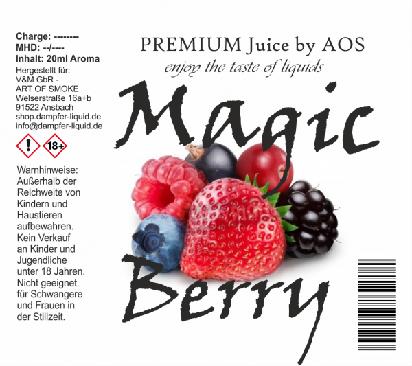 Magic Berry - Premium Juice 60ml Set