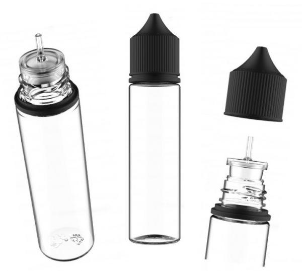 Chubby Gorilla V3 - 60ML PET - Unicorn Bottle schwarz/ transparent
